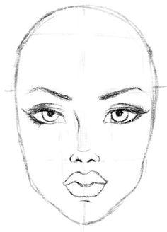 gesicht zeichnen lernen proportion und tutorial dekoking com 6 zeichnen pinterest. Black Bedroom Furniture Sets. Home Design Ideas