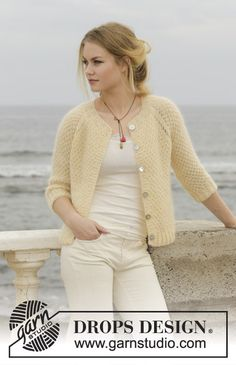 Le Conquet Free Knitting Pattern for a Raglan Jacket, Easy seed stitch jacket to knit for women. Le Conquet Free Knitting Pattern for a Raglan Jacket, Easy seed stitch jacket to knit for women. Knit Cardigan Pattern, Crochet Jacket, Sweater Knitting Patterns, Jacket Pattern, Crochet Cardigan, Knit Or Crochet, Knit Patterns, Knitting Stitch Patterns, Free Knitting Patterns For Women