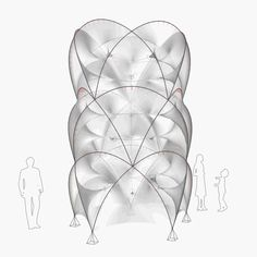 The Tower - Bending Active Tensile Membrane - Form Finding 02