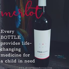 ONEHOPE California Merlot helps fund life changing medicine for children through our partner END7. The key descriptors for this wine are creamy vanilla, raspberry, & mocha. Awarded 91 points at Tastings.com