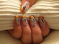 Sombrilla motivo para decorar las uñas