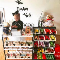 20 of the coolest Kmart hacks EVER! - Kmart hacks for the home Montessori Playroom, Toddler Playroom, Playroom Design, Playroom Decor, Kids Play Store, Kids Grocery Store, Kids Market, Kids Cafe, Kids Play Kitchen