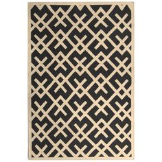 Dhurries Black Ivory Wool Rug