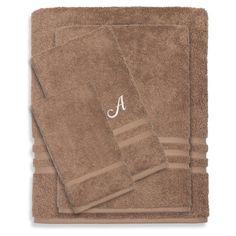 Linum Home Textiles Denzi 4 Piece Monogrammed Towel Set Latte - DNZ10-4C-LF-00-G