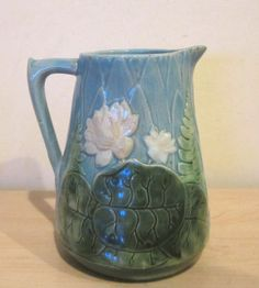 "Holdcroft Majolica 5 3/4"" Water Lily Pitcher"