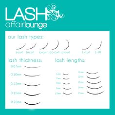 what are the different curls for eyelash extensions - Google Search