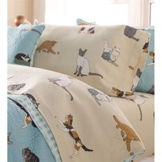 Queen Kitten Caboodle Flannel Sheet Set | Collection Accessories