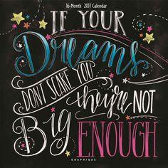 Big Dreams Chalkboard Calendar 2017