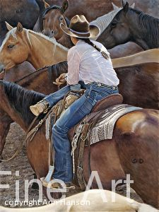 Ann Hanson - Event - Cheyenne Frontier Days Art Show and Sale Woman Riding Horse, Bull Riding, Cowgirl And Horse, Cowboy And Cowgirl, Cowboy History, Cheyenne Frontier Days, Cowgirl Pictures, Real Cowboys, Rare Animals