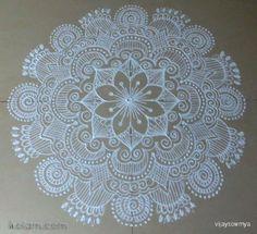 Rangoli free hand design: Free hand design by vijaysowmya Indian Rangoli Designs, Rangoli Designs Latest, Simple Rangoli Designs Images, Rangoli Designs Flower, Rangoli Patterns, Rangoli Border Designs, Colorful Rangoli Designs, Beautiful Rangoli Designs, Mehndi Designs