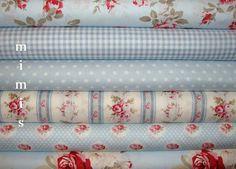 PETAL Fabric by Tanya Whelan / Blues  / 6 Half Yard Bundle / Cotton Quilt Apparel Fabric via Etsy