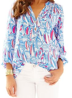 Lilly Pulitzer Elsa Top in Red Right Return