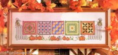 Primitive-Victorian-Autumn-Fall-Pumpkins-Quilts-Fence-Cross-Stitch-PATTERN-OOP