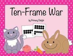 Ten Frame War Cards