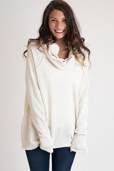 Royals Can Be Comfy Too Ivory Tunic – Single Thread Boutique, $39.00 #tunic #comfy #ivory #cowlneck #cozy #longsleeve #singlethreadbtq #shopstb #boutique