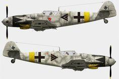 Bf 109 G14 Erich Hartmann. Winter 1944.