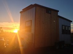 Tiny-solar-house   A mobile off-grid solar powered tiny house built by Nomadic Cabins of Austin, TX. The house features 6 rooftop solar panels tied to a battery bank with 2-3 days electrical autonomy