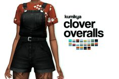 KUMIKYA clover overalls recolour by moontrait loved the og overalls so i HAD to recolour them 20 swatches! custom thumbnail all credits go to you NEED the mesh -- get it here! Sims Mods, Sims 4 Game Mods, Sims 4 Mods Clothes, Sims 4 Clothing, Maxis, Sims 4 Cc Packs, Sims 4 Mm Cc, Vêtement Harris Tweed, Mode Adidas