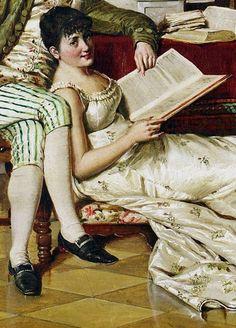 The Flirtatious Tutor. Isidor Kaufmann