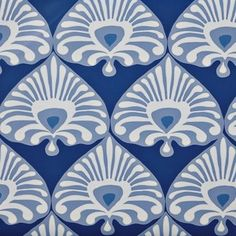 Serena & Lily Palmetto Wallpaper – Cobalt/Periwinkle