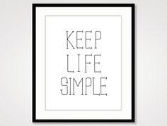 inspirierende Angebot drucken typographic Druck, Motivationstrainer Wand Wohnkultur, handschriftlich ausgefüllt, dankbar Zitate schwarz-weiß Kunst einfache Lebenskunst by KriyaGraphics on Etsy