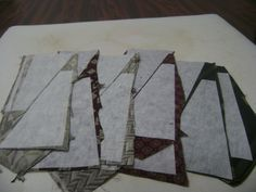 Necktie quilt instructions one – Anita's piecing and quilting tutorials Diy Necktie Projects, Tie Crafts, Quilting Tips, Quilting Tutorials, Quilting Projects, Dresden Plate Patterns, Patchwork Quilt Patterns, Square Patterns, Block Patterns