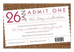 Admit to Merriment - Corporate Invitations by Invitation Consultants. Corporate Invitation, Invitation Wording, Invitation Design, Invitation Ideas, Invites, Social Events, Corporate Events, Womens Ministry Events, Wine Tasting Events