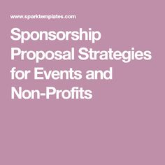 Sample Sponsorship Proposal Letter  Pr Helper  Products I Love