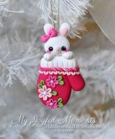 My Joyful Moments - by Kay Miller. ~ This is s one of a kind, handcrafted ornament made of durable polymer clay, with much attention given to detail and careful construction. Polymer Clay Kunst, Polymer Clay Figures, Fimo Clay, Polymer Clay Projects, Polymer Clay Creations, Clay Crafts, Polymer Clay Ornaments, Polymer Clay Charms, Polymer Clay Jewelry