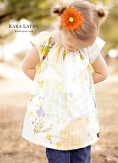 Moonlight Patchwork Peasant Dress..... eco-friendly design... handmade childrens clothing by laken and lila