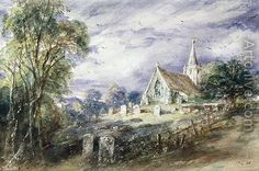 Giclee Print: Stoke Poges Church Wall Art by John Constable by John Constable : John Constable Paintings, English Romantic, Framed Artwork, Wall Art, Portraits, Victoria And Albert Museum, Beautiful Paintings, Les Oeuvres, Landscape Paintings