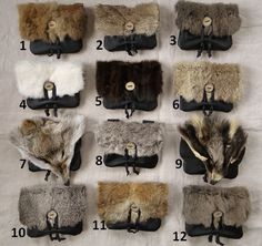 1 Viking Fur Pouch Choose Your Bag Leather Belt by FolkOfTheWood