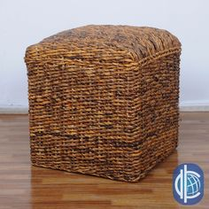 International Caravan 'Arizona' Square Hand-woven Abaca Storage Ottoman with Cushioned Top | Overstock.com Shopping - Great Deals on Interna...