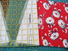 Sewn: Lily's Quilt Along - Cutting the Wedges all Tricky-Like (this is a very smart technique for cutting odd shapes!)