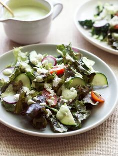 This Creamy Cucumber Tahini Salad Dressing is the perfect addition to any salad! Only takes 5 minutes to make and is vegan and paleo friendly. Healthy Dinner Recipes, Whole Food Recipes, Vegan Recipes, Beetroot Recipes, Cooking Recipes, Healthy Foods To Eat, Healthy Eating, Clean Eating, Tahini Salad Dressing