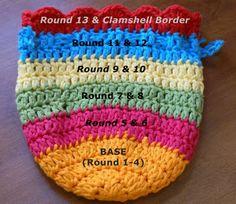 Dutch Girl Diary: Tutorial - Crocheted Treasure Bag