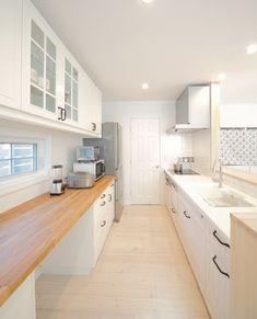 『かわいい家photo』では、かわいい家づくりの参考になる☆ナチュラル、フレンチ、カフェ風なおうちの実例写真を紹介しています。 Kitchen Interior, Interior And Exterior, Kitchen Design, Sweet Home Design, Kitchen Seating, Natural Interior, Cozy Room, Japanese House, Home Kitchens