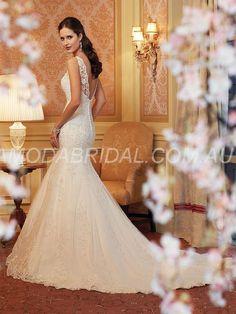 amodabridal.com.au SUPPLIES Trumpet/Mermaid Scoop Chic Lace Applique Chapel Train Wedding Dress Wollongong Lace Wedding Dresses (2)