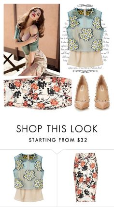 """""""Quick"""" by raincheck ❤ liked on Polyvore featuring Retrò, RED Valentino, Valentino, women's clothing, women, female, woman, misses and juniors"""