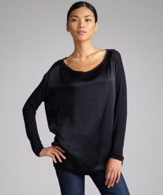 Vince-Black-Silk-Front-Knit-Back-LS-Blouse-Mixed-Media-XSmall-275-2062