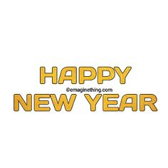 New Year Anime, Happy New Year Png, New Year Words, New Year Clipart, Picsart Png, Png Format, Word Art, Merry Christmas, Clip Art