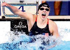 She swims like Katie Ledecky Olympic Sports, Olympic Games, Summer Olympics, Usa Olympics, Katie Ledecky, Best Swimmer, Team Usa, Extreme Sports, Olympians
