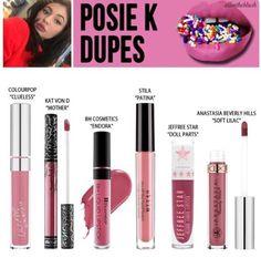 Kylie Cosmetics posie k dupe
