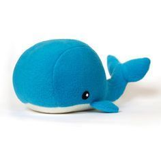 DIY Fluffies Whale Softie - Downloadable Pattern.