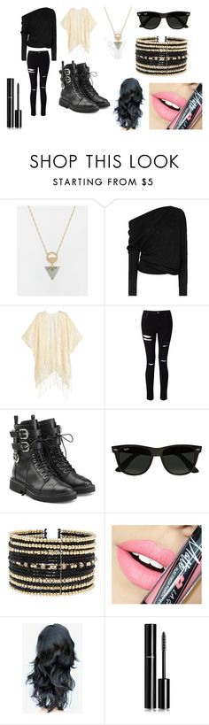 """Assassin-Image"" by lilac-halo ❤ liked on Polyvore featuring ASOS, Tom Ford, Miss Selfridge, Giuseppe Zanotti, Ray-Ban, Eloquii, Fiebiger and Chanel"