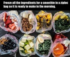 Smart -premake smoothie mix with chia, protein, spinach, etc :) Hack your way through life (15 photos)