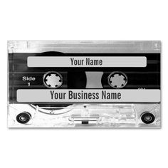 Business Cards that look like an audio music casette tape with a perspex case effect and the tape showing through. Customize the tape 'labels' with your name and business information. Ideal business card for those working in music and performing arts. Cassette, Casette Tapes, Audio Engineer, Audio Music, Music Labels, Custom Business Cards, Card Templates, Ship, Carte De Visite