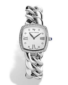 See the Women's David Yurman 'Albion' Stainless Steel Quartz Watch With Diamonds. Stainless Steel Jewelry, Stainless Steel Watch, Quartz Jewelry, Diamond Jewelry, Estilo Fashion, David Yurman, Bracelet Watch, Yurman Bracelet, Diamond Watches