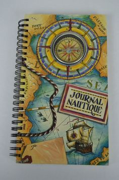 Journal Nautique sailing diary cruise compass spiral bound notebook #cruisediary #cruise #journal Compass, Spiral, Sailing, Cruise, Notebook, Journal, Books, Ebay, Candle