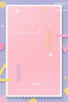 Fresh cartoon simple pop Powerpoint Background Design, Background Design Vector, Frame Background, Geometric Background, Background Templates, Background Patterns, Cute Backgrounds, Cute Wallpapers, Wallpaper Backgrounds